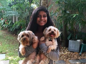 Mandra, and both dogs